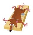 a rat in trap vector image vector image