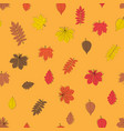 abstract autumn leavesseamless pattern background vector image vector image