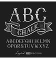 Alphabet hand drawn on chalkboard vector image vector image