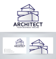 architect company logo with business card vector image vector image
