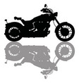 black silhouette of heavy motorcycle vector image vector image