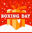 boxing day big sale concept background flat style vector image vector image