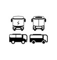 bus icon design template isolated vector image vector image