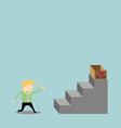 Businessman climbing the ladder of my job vector image