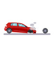car and transportation issue with a wheel vector image vector image