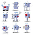 cartoon robots set vector image vector image