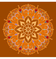 Circular ornament in ethnic style vector image
