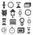 Clock and Watch Icons Set vector image vector image