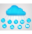 Cloud services concept vector image