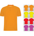 colorful set of classic t shirts vector image vector image