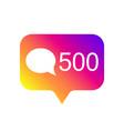 counter notification icon color gradient social vector image vector image