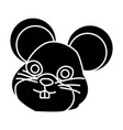 cute mouse cartoon vector image