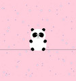 cute panda animal background with stars for kids vector image vector image