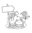 cute toad in the landscape character vector image vector image