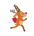 Deer Hurry in Business Cartoon Flat Cartoon vector image vector image