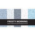 diamond pattern set frosty morning seamless vector image vector image
