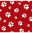 dog footprints vector image vector image