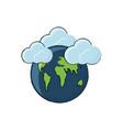earth planet design concept vector image vector image