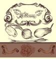 elegant menu design with vegetables vector image