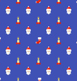 flat style new year seamless pattern vector image vector image
