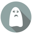 ghost icon on long shadow vector image vector image