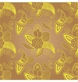 golden seamless pattern with paisley on background vector image vector image