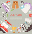 golf club cartoon poster background vector image vector image