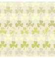 Grunge clover pattern vector image vector image