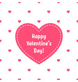 happy valentines day greeting card with red heart vector image vector image