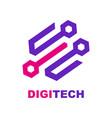 icon hi-tech company logo design business vector image vector image