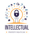 intellectual property rights day for trademark vector image