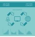 Internet Infographic Flat Design vector image vector image