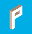 isometric letter p vector image vector image