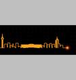 kinshasa light streak skyline vector image vector image