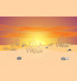 landscape desert with clouds on sky in suns vector image vector image