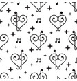 love music pattern vector image