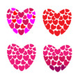 many hearts in one heart on white background vector image vector image