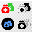 medical funds eps icon with contour version vector image vector image