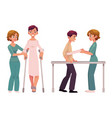 medical rehabilitation relearning to walk vector image vector image