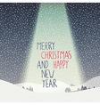 merry christmas calm scene vector image