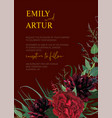 modern colorful watercolor style wedding invite vector image vector image