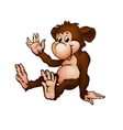monkey in cartoon style vector image vector image