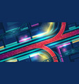 night city with transport interchange top view vector image vector image
