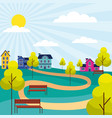 outdoor park sunny day vector image vector image
