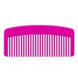 Pink comb vector image