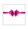 pink ribbon bow 01 vector image