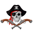 Pirate Skull and guns vector image