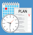 Planning and organization of time flat vector image vector image