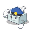 police printer character cartoon style vector image vector image