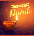post card for diwali festival with realistic vector image vector image